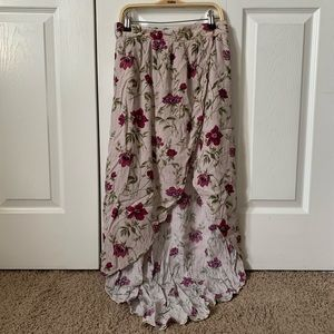 AEO Floral High-Low Maxi Skirt - MATCHING TOP!